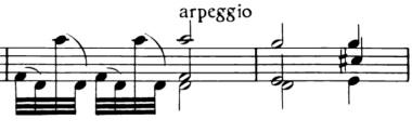 violin mm 89-90 arpeggio